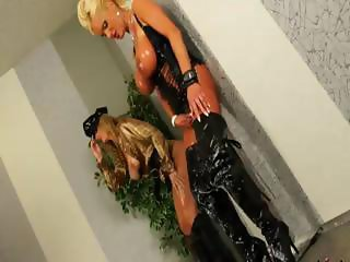 Glam sluts gets showered in cum