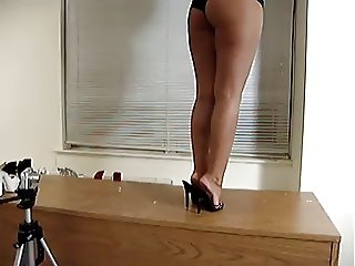 latin legs and feet in high heels
