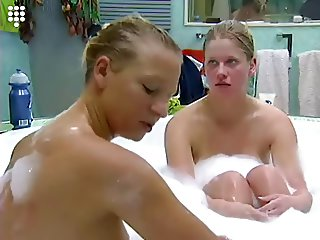 Big Brother NL - Hot blond Teen playing in Bath 1