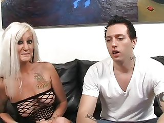 Hot Tattooed Busty Blonde Cougar Lana Phoenix