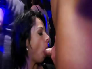 Party cfnm amateur sluts fuck and suck orgy