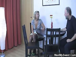 GF eats his mom cunt then gets fucked