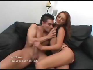 Hot redhead Dani Woodward likes licking cocks, getting banged and eating cum