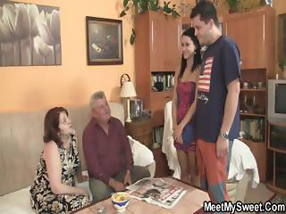 He leaves and parents fuck his GF
