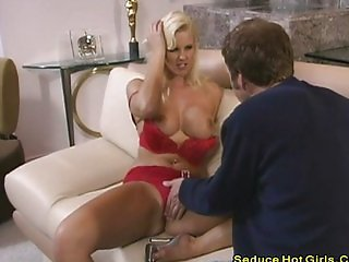 Hot blonde Hannah loves cock