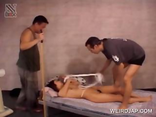 Groupsex with asian slave fingered