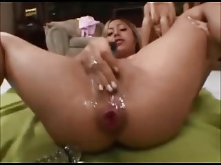 Masturbation pussy and asshole extrem open