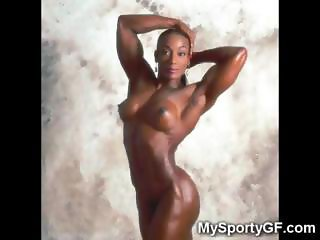 Ebony Muscular Fitness Girls!