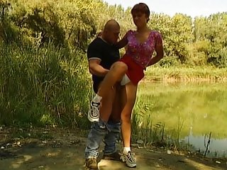 Rita - German babe fucked by bf and stranger