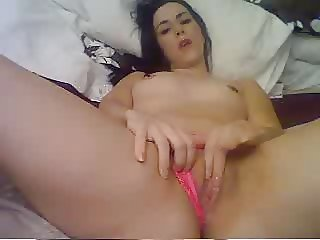 hard deep fingers in pink thong