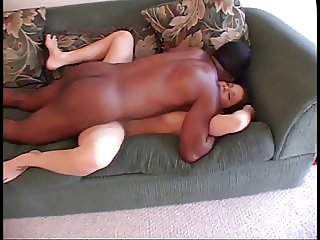 Black man pounding white twat