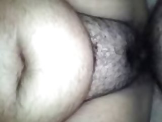 Fucking Her Hairy Pussy While She Rubs Her Clit