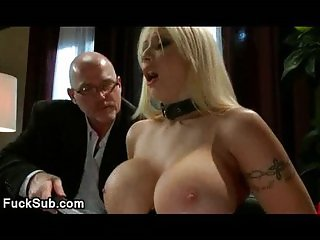 Huge hooters blondina fucked bdsm