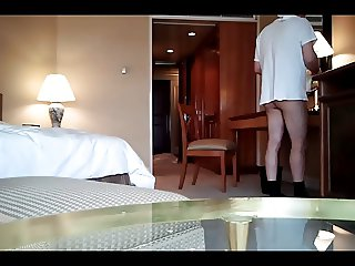 Hotel maid flash. part 2. asking for information.