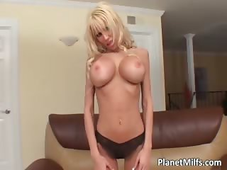 Busty blond MILF whore gets her anus part2
