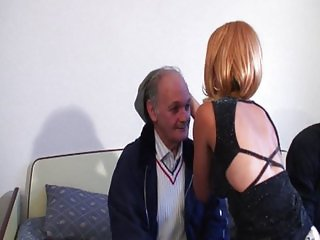 Young and old shaved pussy fucking