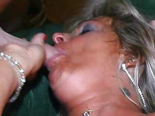 Drink mature fucked by two guys