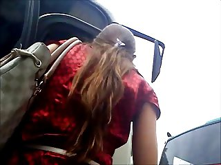upskirt in the bus