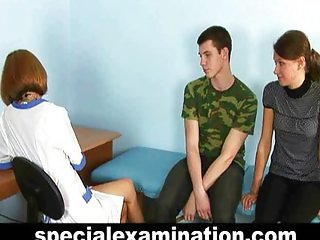 Special gyno exam for young couple