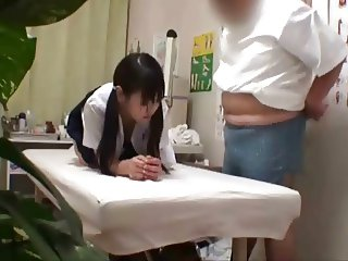Japanese schoolgirl (18+) fucked during medical exam