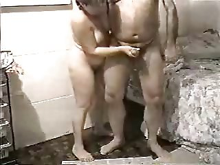 My old wife jerking my cock. Amateur older