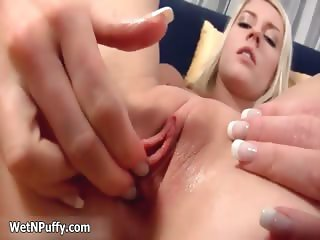 Sexy blonde babe goes crazy playing part4