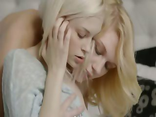 Swedish blondie lesbians make true love