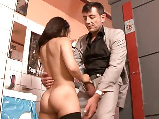 Very hot little girl is getting fucked good