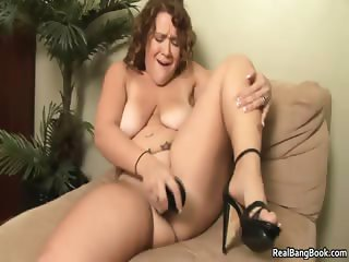 Busty tattooed whore fucking a dildo part3