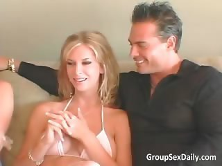Foursome group sex with two hot sweet part1