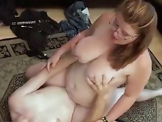 Busty chubby loves riding and sucking cock