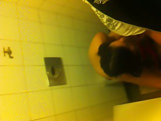 in toilet with gf