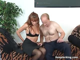 Horny redhead MILF sucks fat cock part2
