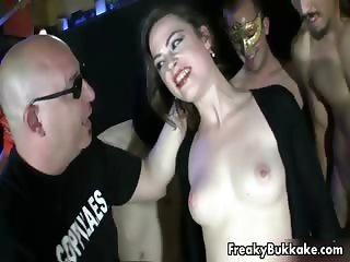 Dirty brunette whore goes crazy sucking part6