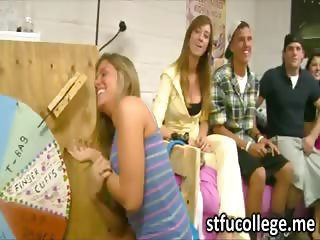 Hot American students play the sex wheel