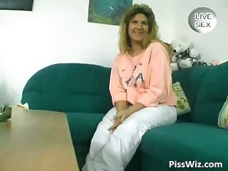 Horny MILF brunette piss and fuck her part2