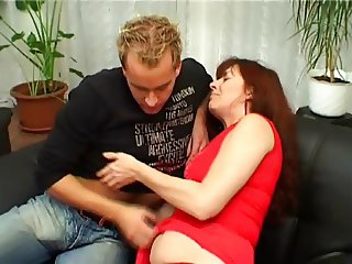 Amateur RedHead MILF Marie Fucks Younger Guy