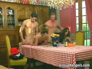Two horny couples enjoy in great group part3