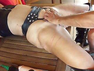 Hard fisting with a massive squirt