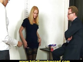 Nude job interview for teen girl
