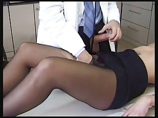 Sexy Patient in Black Pantyhose Gets Fucked