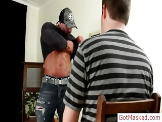 Massive muscled stud getting cock part4