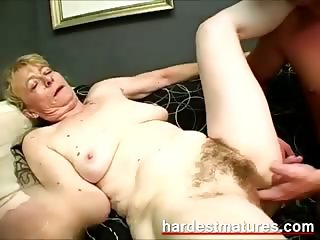 Grandma sucking dick while fingering