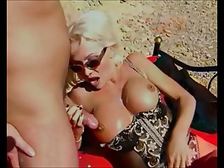 Helen Duval, High Heels, Lingerie, Hard Anal on Beach.