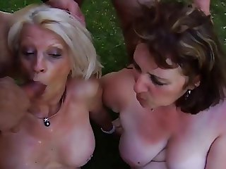 Blonde French Milf foursome