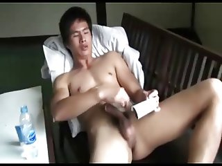 Thai Guy Showering and Wanking