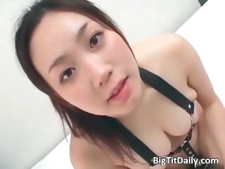 Horny asian babe with big busty tits part1