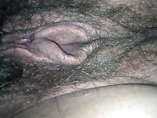 Juicy hairy girlfriend pussy