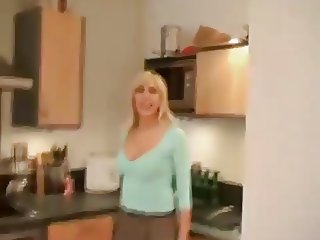 Sexy British blonde housewife