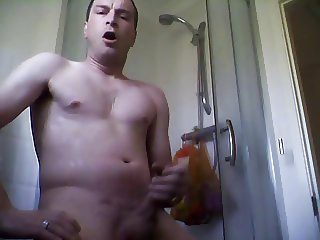 morning shower wank